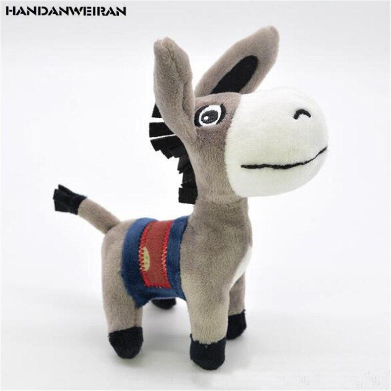 1PCS Mini Donkey Plush Toys Small Pendant Cute Creative Stuffed Toy Keychain For Kids Activities Gift Hot Sale 12CM HANDANWEIRAN