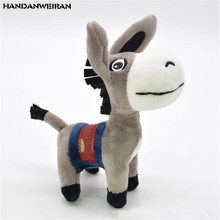 1PCS Mini Donkey Plush Toys Small Pendant Cute Creative Stuffed Toy Keychain For Kids Activities Gift Hot Sale 12CM HANDANWEIRAN