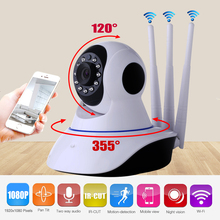 Howell P2P Three Antenna Wifi Security 2.0MP Camera 1080P Wireless IP Camera with Pan/Tilt 2 Way Audio Night Vision Baby Monitor(China)