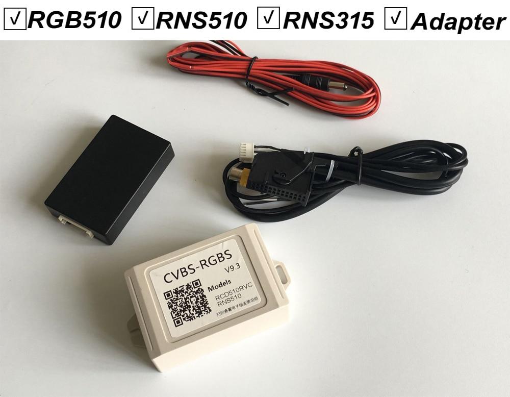 For RCD510 RNS510 RNS315 RCD RNS 510 315 Rear view Av Camera Converter Adapter CVBS To