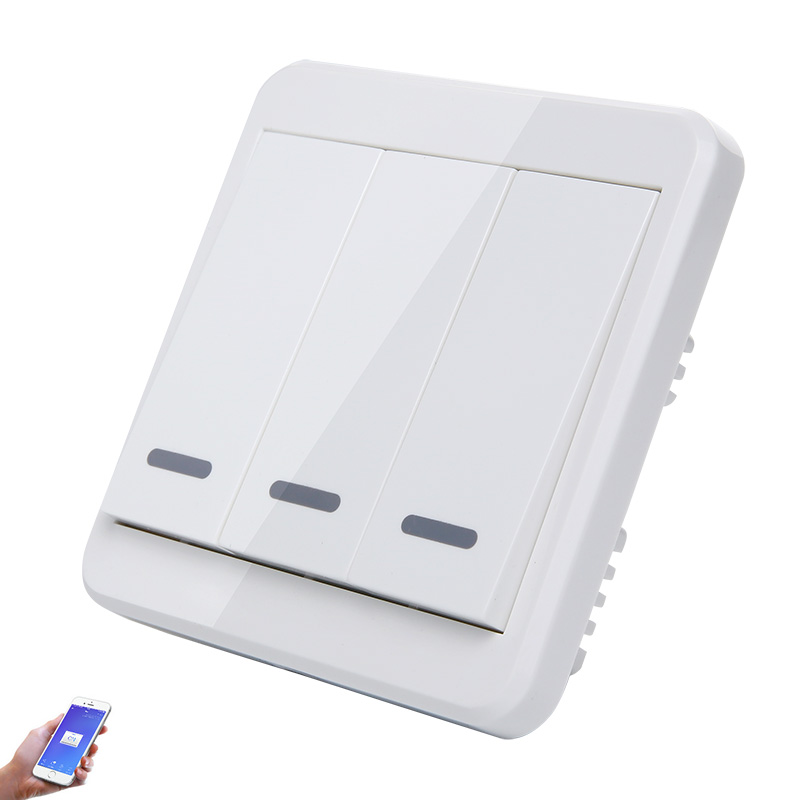 UK Standard AC 110V 220V 3CH Wifi Control Wall Light Switch Touch Switch Smart House Module Work with Alexa and Google HomeUK Standard AC 110V 220V 3CH Wifi Control Wall Light Switch Touch Switch Smart House Module Work with Alexa and Google Home