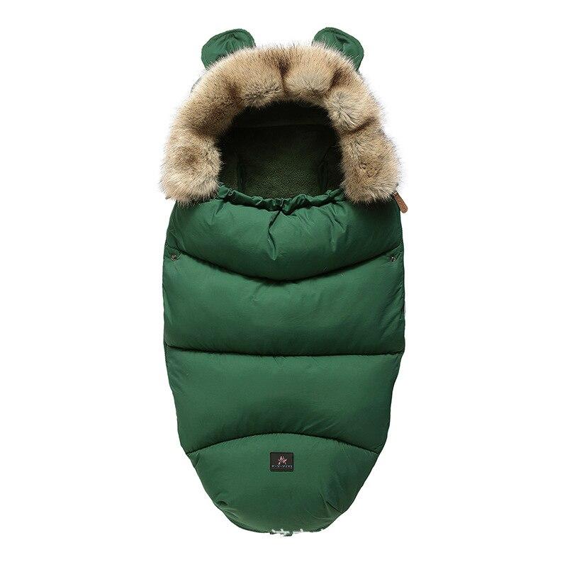 2019 nouvelle fausse fourrure bébé poussette sac de couchage double usage bébé automne/hiver couverture extérieure épais chaud bébé produits Anti-coup de pied