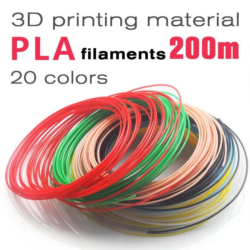 Sem cheiro,proteção ambiental filamento pla 1.75mm 20 cores caneta 3d canetas resina pla filamento 1.75mm plastificado metro 3d printer filament 3d printer abs plástico pla filament pla 3d filament abs filamento 3d pla