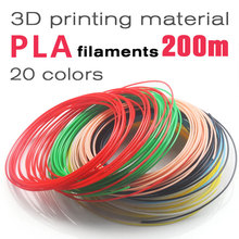 2017 3D pen Filament ABS/PLA plastic 1.75mm Many colores 10/20Colores(10M/color,5M/color)perfect  For 3D Printing Pen 3D Printer topshop 13i25igry