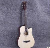 38 дюймов народная гитара Гитары начинающих студенческая практика фортепиано начинающих входа липового дерева Гитары цвет древесины
