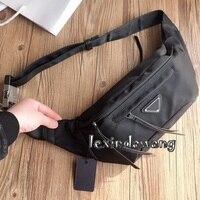 Nylon Waterproof Waist Bags Women Men Cross Chest Bags Unisex Fashion Brand Belt Bag Luxury Purse Pocket Causal Small Black Bags
