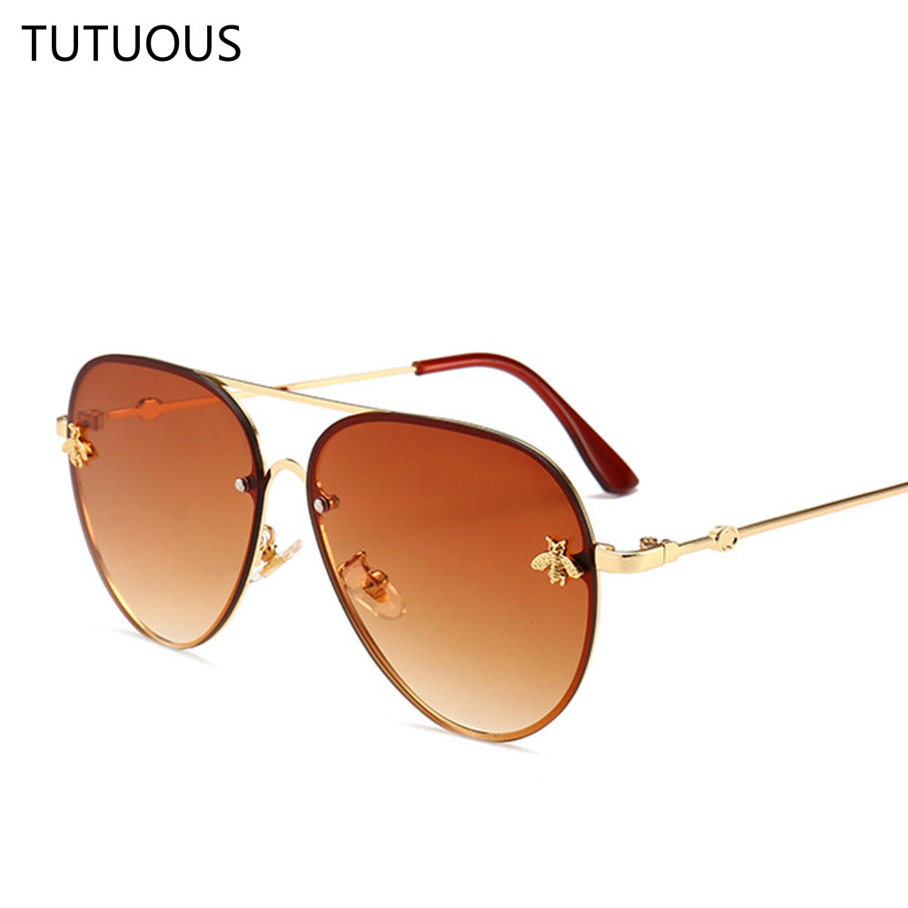90c379f230 Luxury Pilot Sunglasses Men Women Metal Frame Vintage Brand Glasses  Designer Fashion Male Female Shades-in Sunglasses from Apparel Accessories  on ...