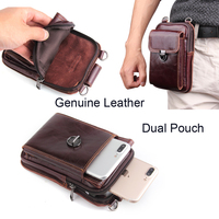 Genuine Leather Pouch Shoulder Belt Mobile Phone Case Bags For Huawei Mate 10 Lite Nova 2i