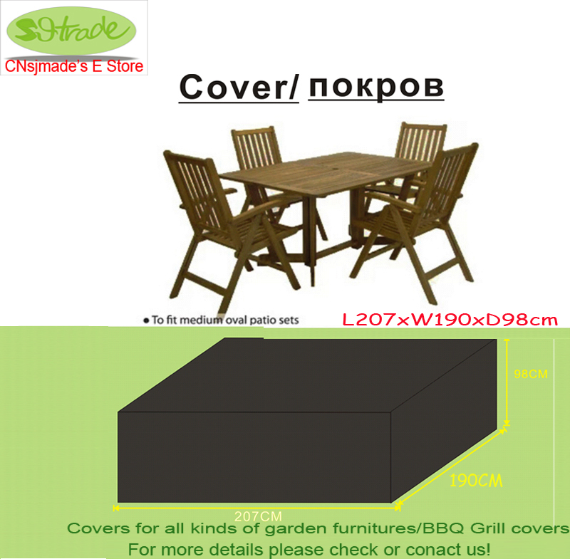 Free Shipping Wooden Chair And Table Set Cover 207x190x98 Cm Garden Furniture Water Proofed For Outdoor