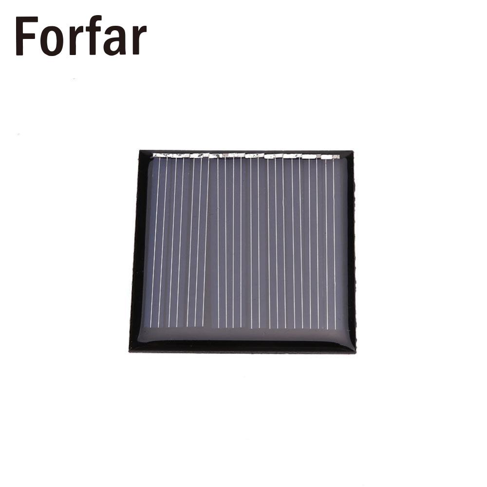 Forfar 0.25W 5V Mini Solar Panel Cell Charger Charging Portable DIY 45x45mm Black Outdoor Tool