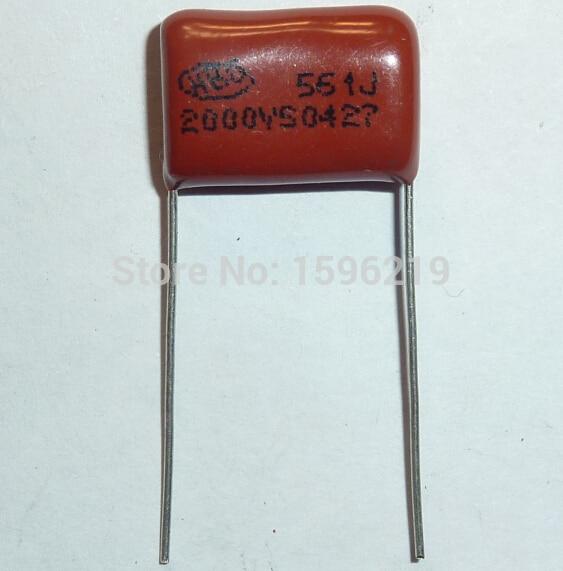 20pcs CBB Capacitor 561 2000V 561J 2KV 560pF 0.56nF P15 CBB81 Metallized Polypropylene Film Capacitor
