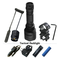 tactical flashlight Portable Lighting spotlight hunting led torch cree xm l2 xml t6 waterproof self defense led flashlight 18650