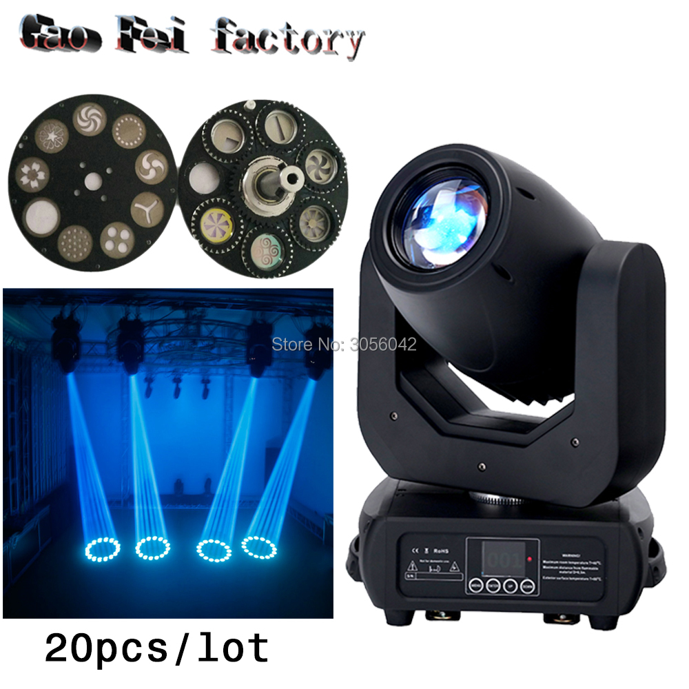 20pcs/lot Zoom Projector DJ Stage Light 3 prism Effect 150W LED Moving Head Spot Gobo Light цены
