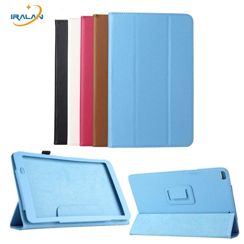 Nouveau Luxe Ultra mince 3-pliage Couverture de Stand Pour Huawei MediaPad T1 10 Pro T1-A21W T1-A23L Tablet PC Flip Lychee En Cuir cas + Stylo