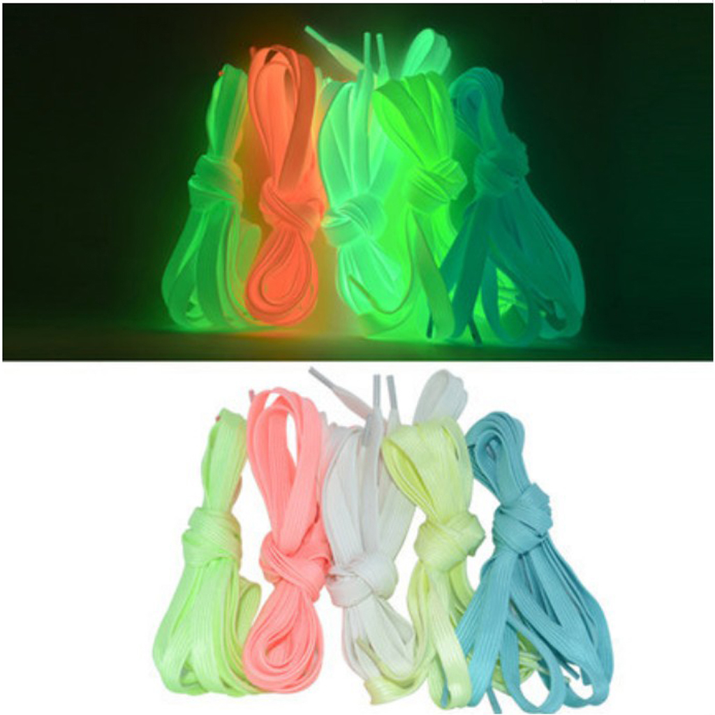 1 Pair 71 Inch Luminous Shoelace Fluorescent Design For Roller Ice Skates Boots Sports Shoes Webbing Shoe Lace Night Color