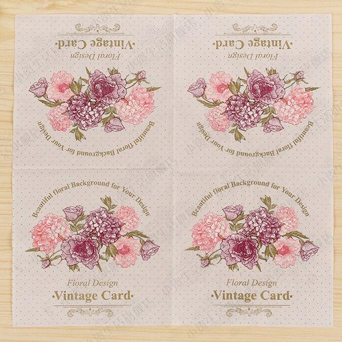 vintage flower paper napkins