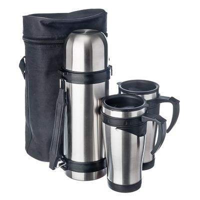 KIT BAG VETTA thermos 1L 2 thermos mug 450ml in a bag thermos bottles bait hunting