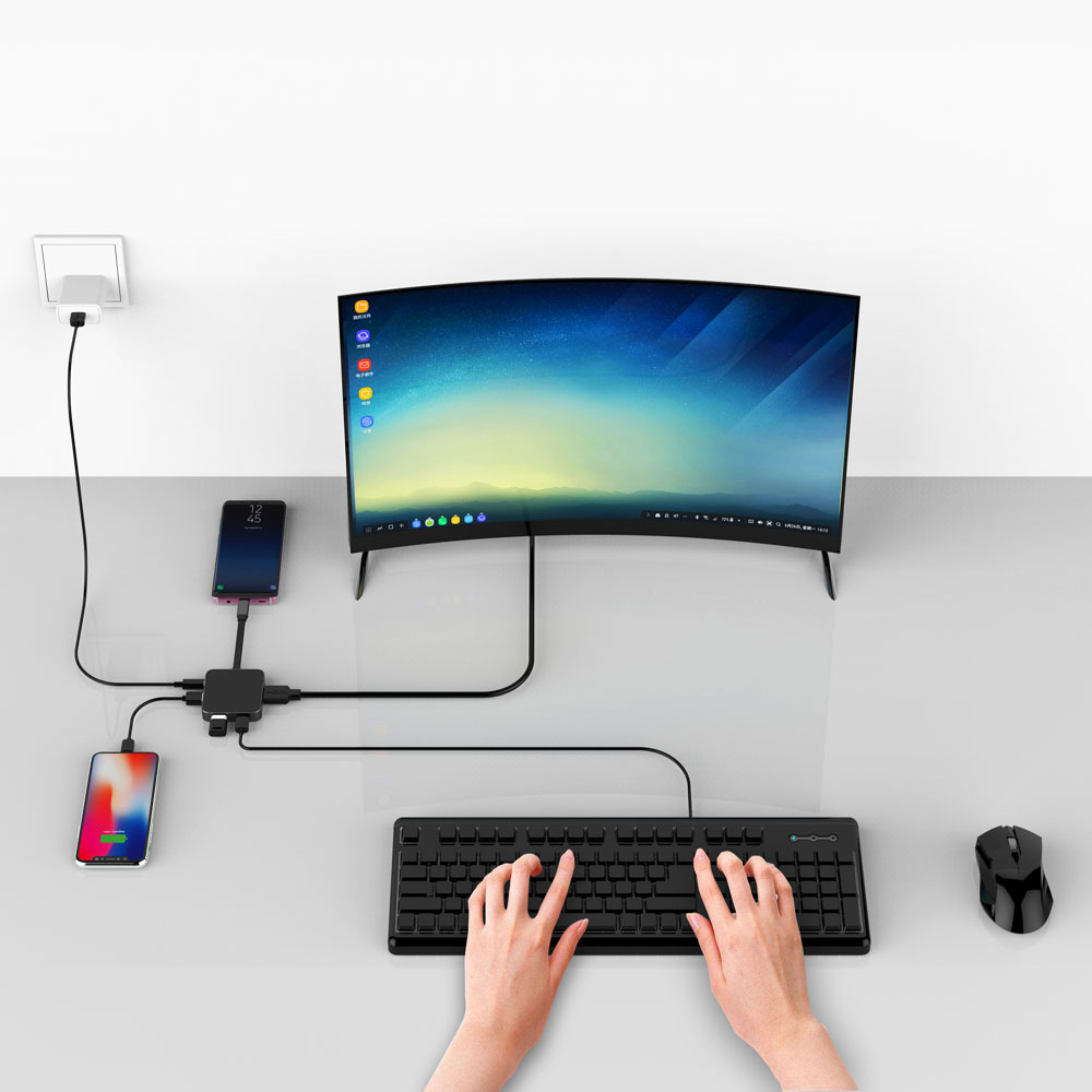 Uosible Thunderbolt 3 Adapter USB Type C Hub to HDMI support Dex Mode for Samsun
