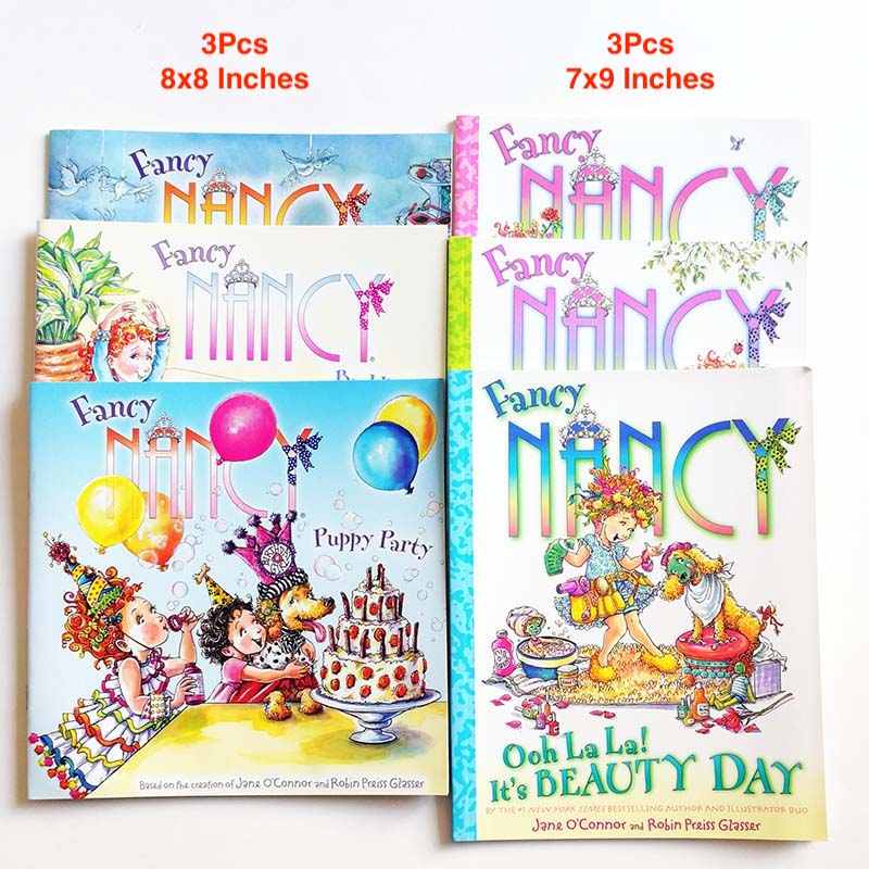 6Pcs Fancy Nancy Kids Story Books  By Jane O'Connor English Books For Children/Kids/Girls Special Offer