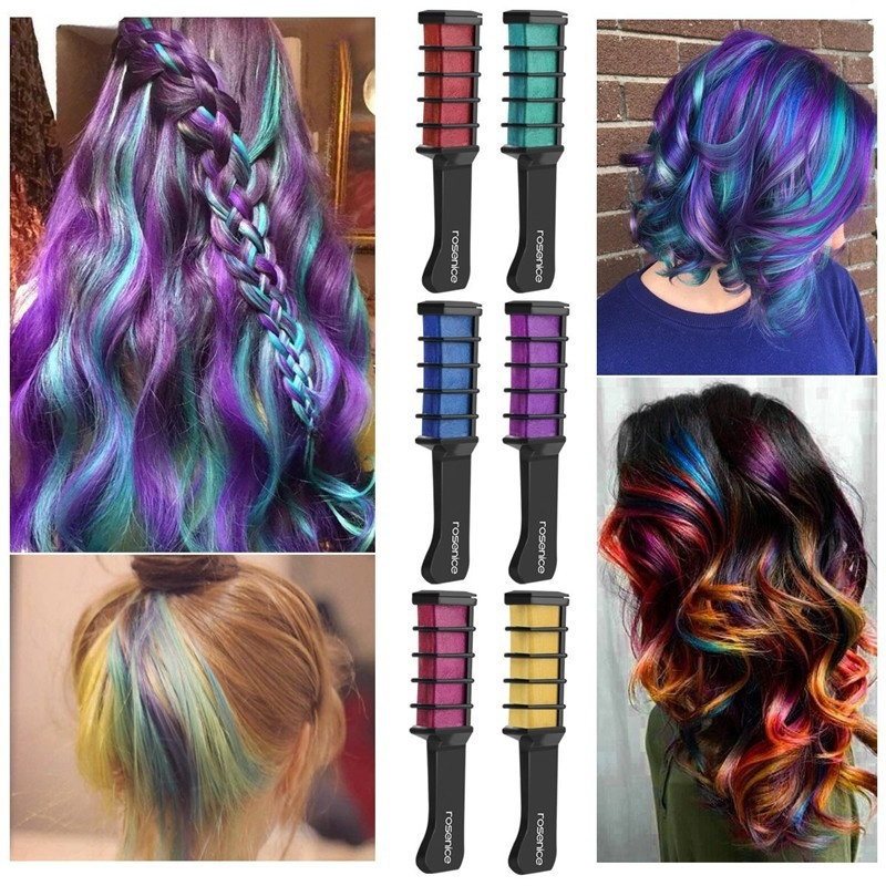 Us 2 99 50 Off 8 Colors Fashion Sexy Ameauty Temporary Hair Chalk Cosplay Diy Non Toxic Washable Hair Color Comb For Party Makeup In Hair Color From