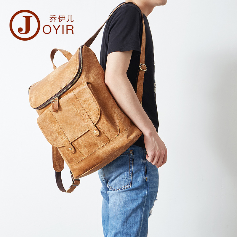 Genuine Leather Men Backpack Fashion Casual Leather Bag Travel Baggage Backpack Retro Genuine Leather Schoolbag A4618Genuine Leather Men Backpack Fashion Casual Leather Bag Travel Baggage Backpack Retro Genuine Leather Schoolbag A4618