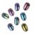 12 unids/set Shinning Camaleón Espejo Polvo Del Brillo Magnífico Kit Gel UV Nail Art Pigmento de Cromo Rojo