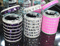 Top Grade Diamond Cinzeiro Plastic With LED Light Car Cup Holder Ashtray
