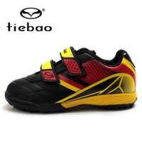 TIEBAO Professionelle Kinder kinder TF Turf Schuhe Fußball Schuhe Marke Jungen Mädchen Nationalen Flagge Indoor Fußball Schuhe
