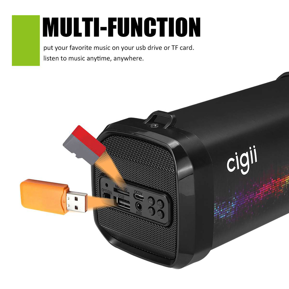 Mini haut-parleur Portable bluetooth haut-parleur extérieur sans fil boîte à musique stéréo basse Subwoofer Tweeter FM/AUX/USB/TF pour ordinateur PC - 2