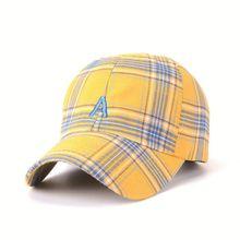 2018 Summer Korean Letter A Baseball Cap Striped Plaid Hats For Men Women  Teens Hip Hop autumn Snapback Caps Street Dancing Hats 3bd007e8fc
