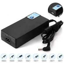 Universal 120W Adjustable Voltage with 8 Replaceable Head Laptop Power Supply EU Plug New Laptop Adapter Power For Asus For Dell