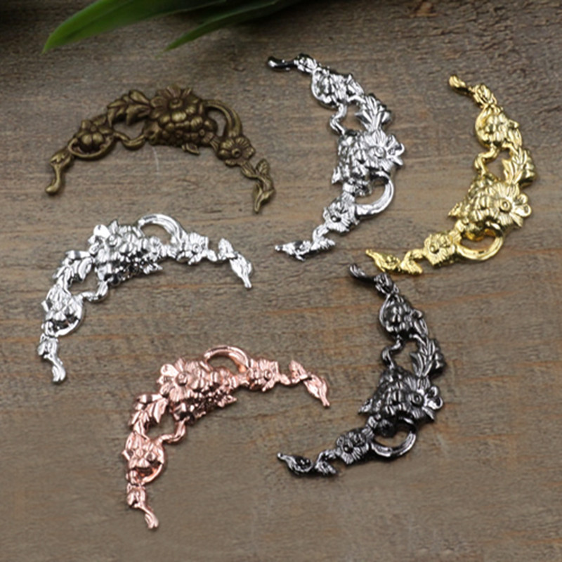 40mm 7 Colors Plated Filigree Hollow Flowers Copper Charms Jewelry Making DIY Components cy609