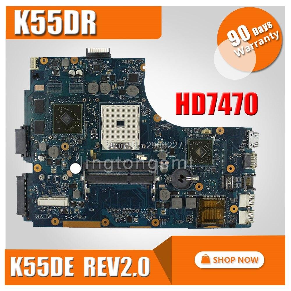 K55DR Motherboard Rev 2 0 HD 7470M 1GB A80M For ASUS A55DR K55DR K55D Laptop motherboard
