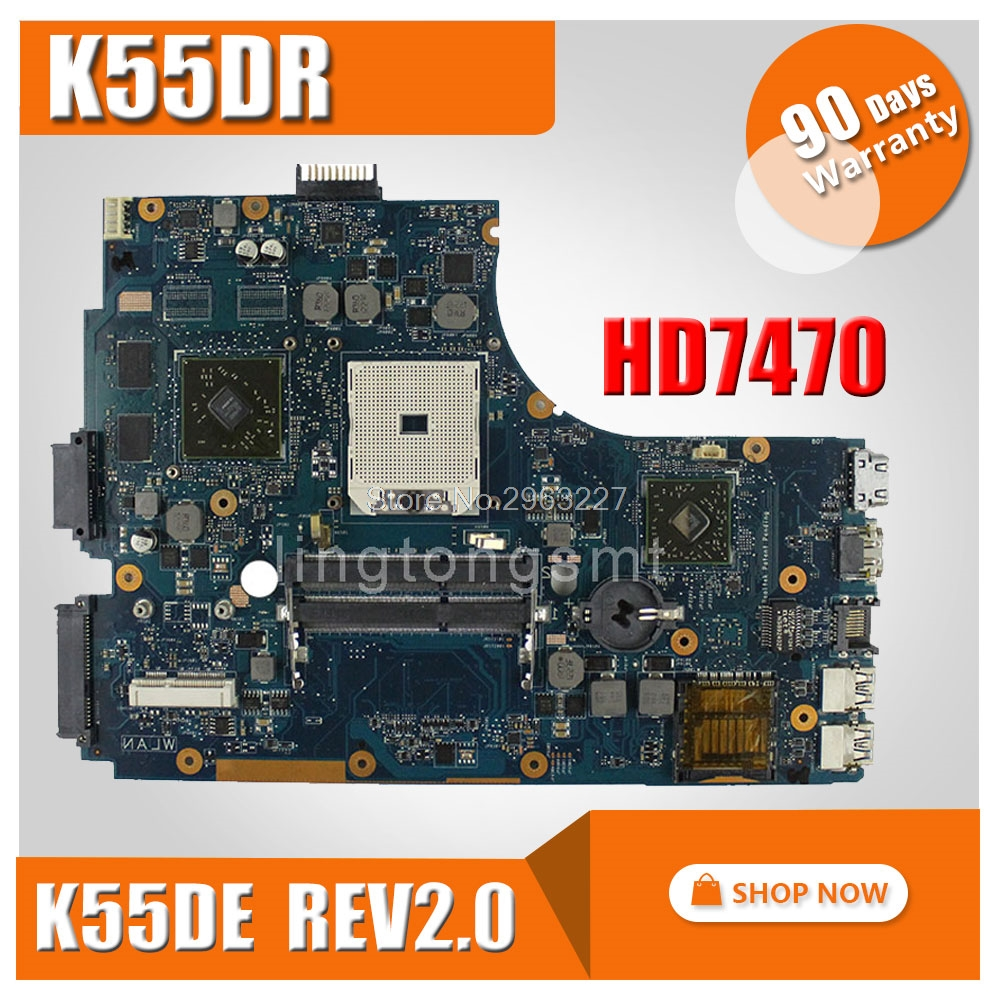 K55DR Motherboard  Rev 2.0 HD 7470M 1GB A80M For ASUS A55DR K55DR K55D Laptop Motherboard K55DR Mainboard K55DR Motherboard