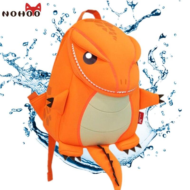 NOHOO Animals School Bag for Girls font b Backpack b font Waterproof Neoprene font b Kids