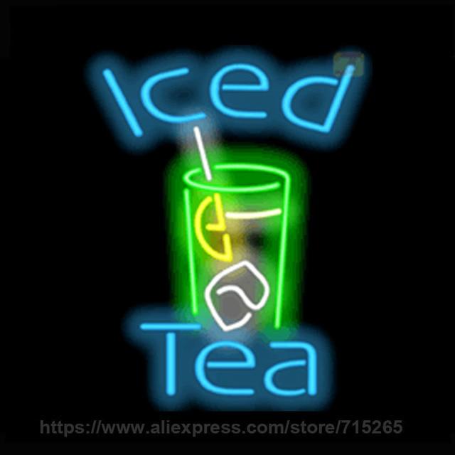 Neon Sign Iced Tea Night Neon Light Sign Cool Neon Arcade Handcraft