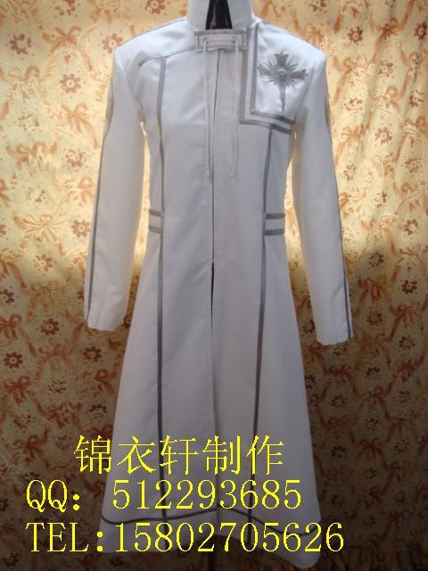 2012 White D.Gray-man Halloween Komui lee Cosplay Costume image