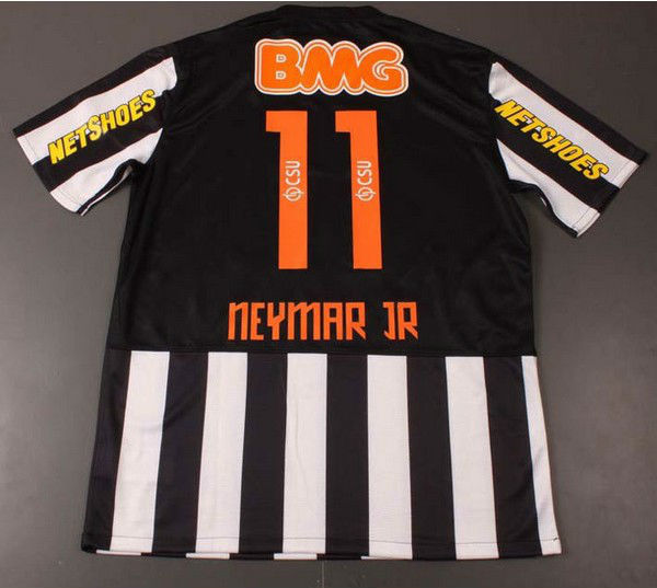 d162a507c81 #11 Neymar JR Thai Thailand 2013 Player Version Santos 3D away soccer jersey  100% Brand Logo Quality santos football shirt