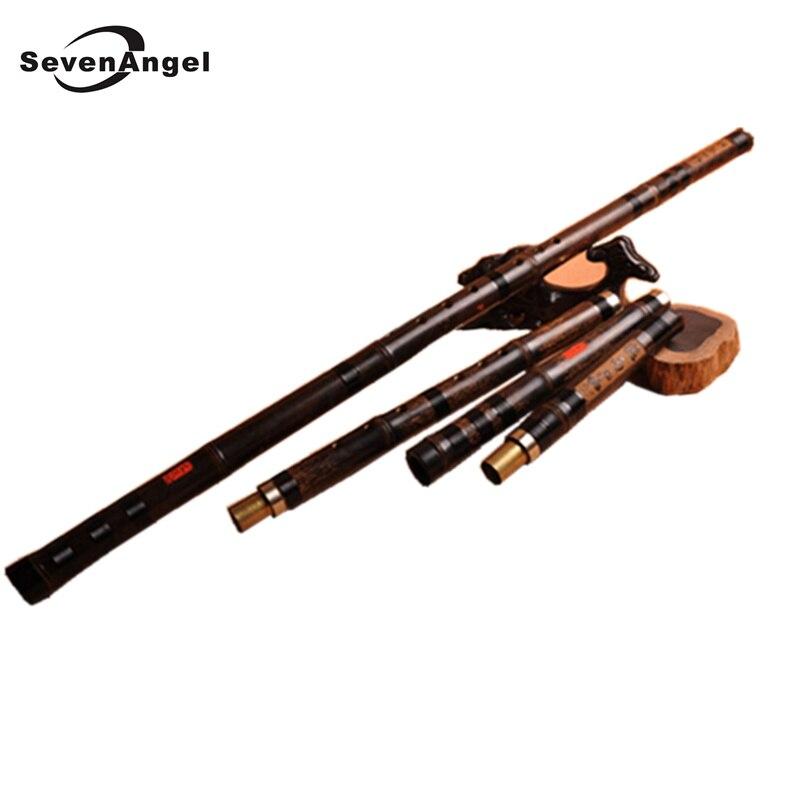 Flûte de bambou chinoise de haute qualité Xiao 3 sections et section unique Flauta en option facile à transporter Dizi envoyer boîte-cadeau