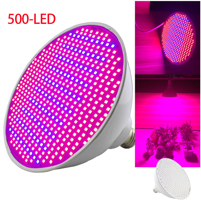 2PCS 500 Led Plant Grow Light Bulbs  Phyto Lamp Hydro Growing Vegetable Seeds Growing Bulbs Greenhouse For Flower Plant Seedling
