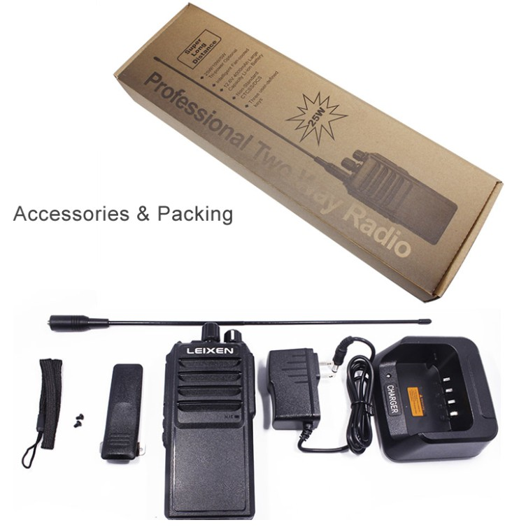 Image 4 - Long Range 25W High Power LEIXEN VV 25 WalkieTalkie 10 30km Two Way Radio Handheld Transceiver Ham Intercom-in Walkie Talkie from Cellphones & Telecommunications