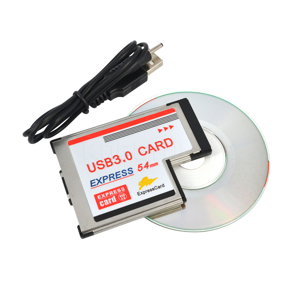 Express Card 54mm to USB 3.0 x 2 Port Expresscard PCI-E to USB Adapter PromotionHot New Arrival
