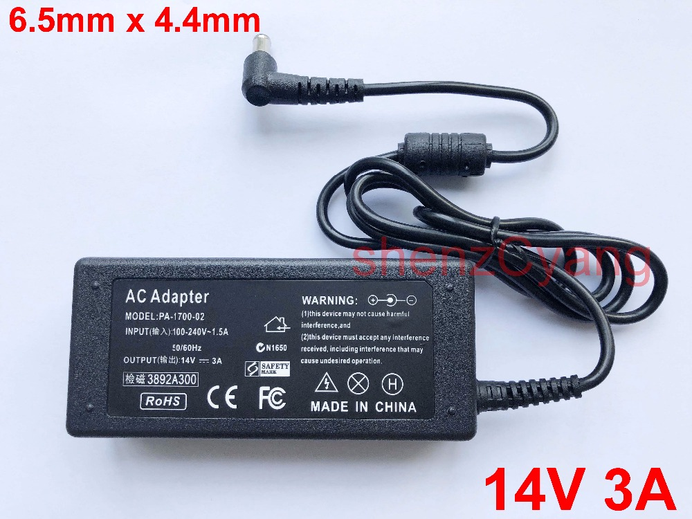 1PCS 14V 3A Adapter For Samsung LCD Monitor BX2235 S22A100N S19A100N S22A200B S22A300B S23A300B S19A300B S20A300B