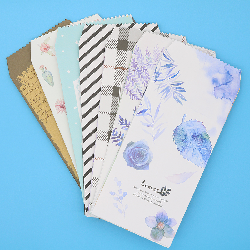 (19.5 * 8.7cm) China Wind Envelope Cute Cactus Retro Age Shallow Leaf Set Multicolor Envelope Child Gift Stationery 6pcs/Package