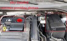 Для 2016 2017 2018 VW Tiguan mk2 1.4TSI крышка двигателя Шапки капот Кепки электрода батареи Водонепроницаемый пылезащитный Защитный