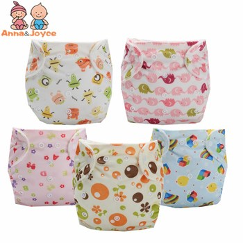 21pcs/lot Washable Baby Cloth Diaper Cover Waterproof Cartoon Owl Baby Diapers Reusable Cloth Nappy Suit 0-2years 3-13kg