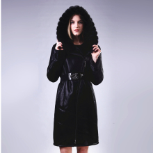 100% Genuine leather Mink Fur Collar Double faced Fur Faux suede women coat Lady suit Personalized customization Fashion new