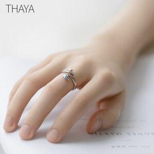 Image 5 - Thaya Sommernachtstraum Design Ringe Vintage Farbige Perlen S925 Sterling Silber Schmuck Ring Für Frauen