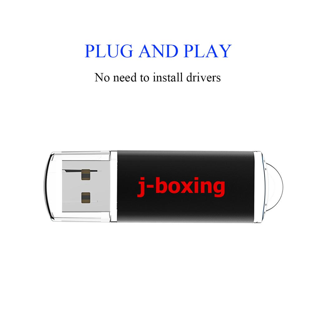 Image 3 - J boxing 10PCS 1GB USB Flash Drives Bulk 2GB Rectangle Thumb Drives 4GB 8GB USB 2.0 Sticks 16GB 32GB Pendrive with Cap Black-in USB Flash Drives from Computer & Office