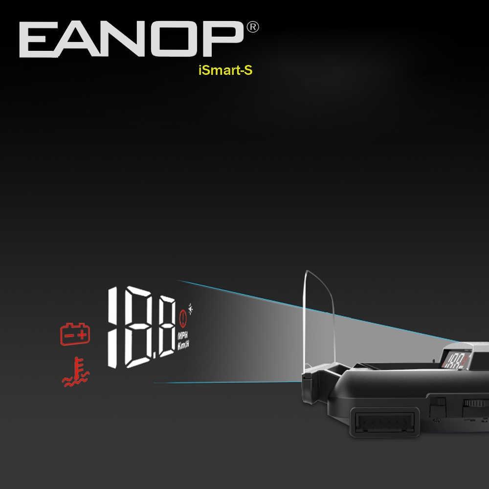 EANOP iSmart-S هود عرض سيارة OBD2 Windsheild سرعة العارض السرعة الجهد رصد KHM KPM تحويل